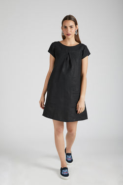 Willow A Line Dress - Black