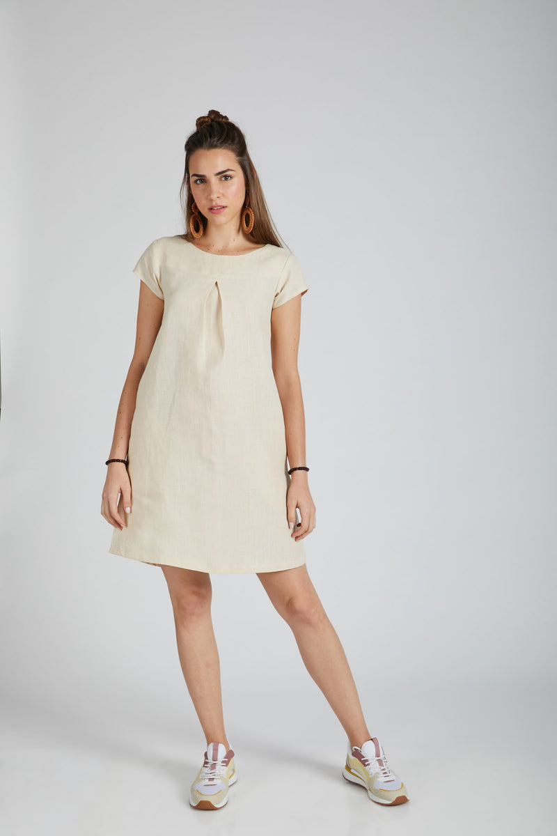Willow A Line Dress - Light Beige