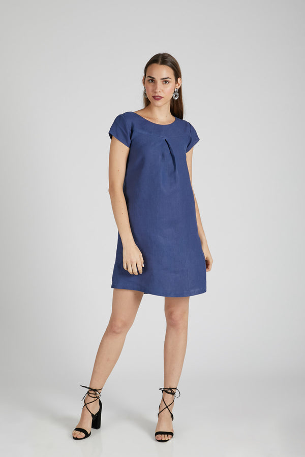 Willow A Line Dress - Navy