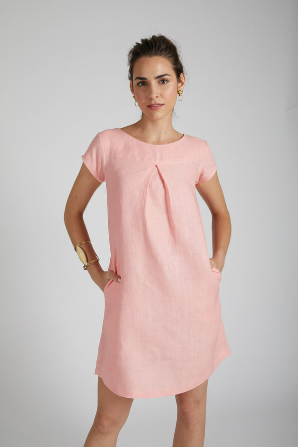 Willow A Line Dress - Peach