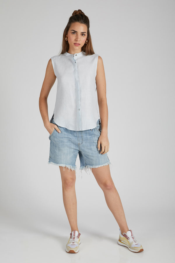 Zephyr Sleeveless Shirt - Blue