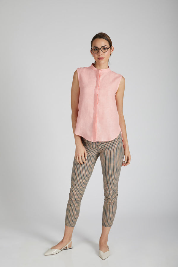 Zephyr Sleeveless Shirt - Peach