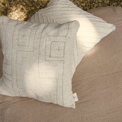 Labyrinth Twined Cushion Cover - Off White