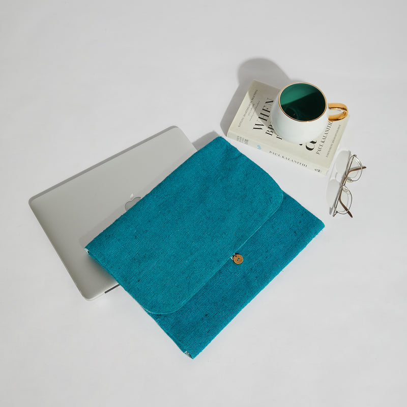Foldable Laptop Sleeve - Teal
