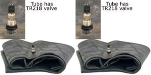 TWO NEW 7.5/8.5/9.5L14/15 TR218A METAL VALVE TRUCK TIRE INNER TUBES