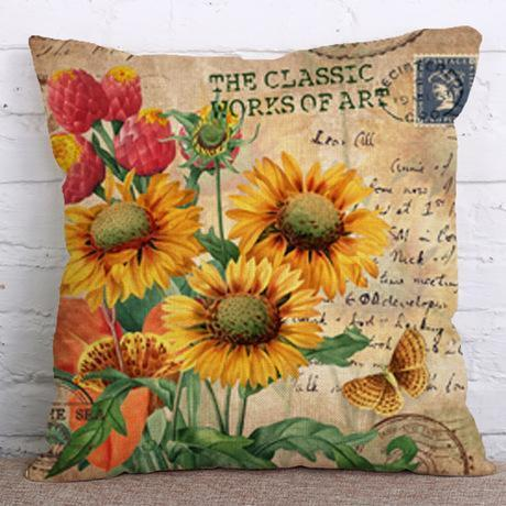 Sunflower Pillow Case Cushion Cover