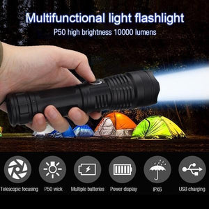 XHP P50 MOST POWERFUL FLASHLIGHT(Buy 3 Get 1 Free + Free Shipping )