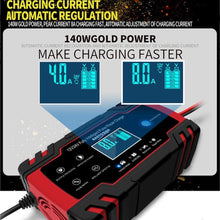 Load image into Gallery viewer, ANEAR Car Battery Charger, 12V 24V Battery Charger & Maintainer, 3-Stage Automatic Trickle Battery Charger Maintainer with Six Functions for Most Types of 2AH-150AH Lead Acid Batteries