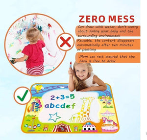 ANEAR Water Doodle Mat, Colorful Writing Blanket, Graffiti Blanket, with Water Graffiti Pen Drawing and Painting Molds, Educational Toys for Toddlers, Children's Educational Gifts
