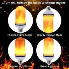 Load image into Gallery viewer, ANEAR Flame Bulb, LED Flame Effect Light Bulb with 3 Lighting Modes, E26/E27 Base Flame Lights for Indoor Outdoor Gardens Wedding Party Halloween Christmas Decoration