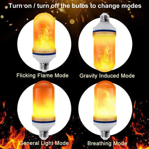 ANEAR Flame Bulb, LED Flame Effect Light Bulb with 3 Lighting Modes, E26/E27 Base Flame Lights for Indoor Outdoor Gardens Wedding Party Halloween Christmas Decoration
