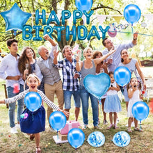 Load image into Gallery viewer, ANEAR Blue Birthday Decorations Party Supplies Set (50 PC), Balloons, Tassels, Banner, Dispensing, Pump for Birthday Party - Ballerina Party - Bachelorette Party