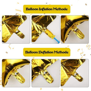 ANEAR Gold Birthday Decorations Party Supplies Set (50 PC), Balloons, Tassels, Banner, Dispensing, Pump for Birthday Party - Ballerina Party - Bachelorette Party