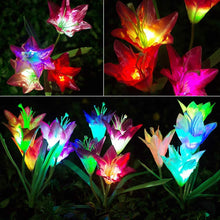 Load image into Gallery viewer, ANEAR Solar Lights, 3 Pack LED Outdoor Garden Flower Lights, Multi-Color Changing Waterproof Solar Flower Lights for Garden Patio Backyard Holiday Decoration