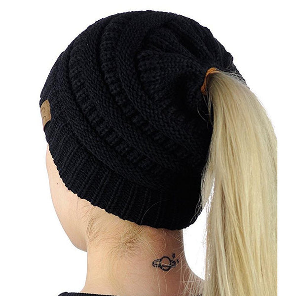 The Crochet Stretch Ponytail Beanie - I Have Wanderlust