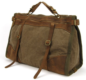 The FANCODI Vintage Canvas & Leather Weekender - I Have Wanderlust