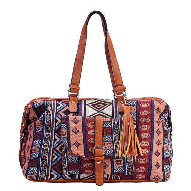 Aztec Jacquard Travel Bag (5 Colors) - I Have Wanderlust