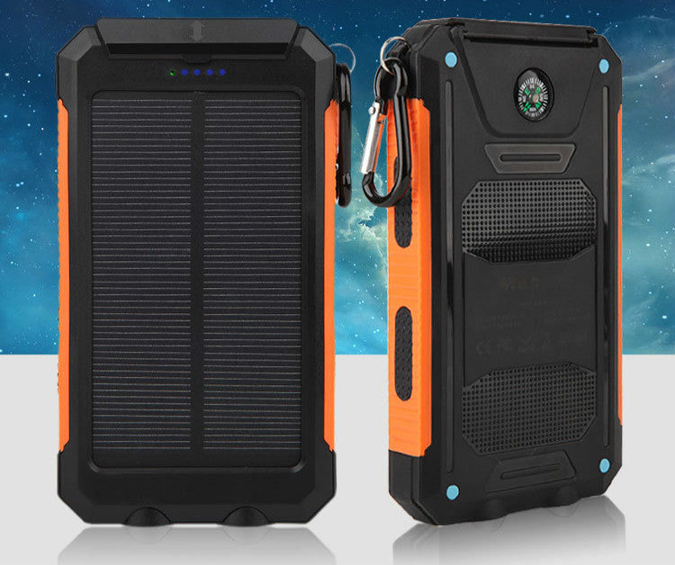 20,000mAh Dual USB Waterproof Solar Power Bank with Compass and LED Flashlight - I Have Wanderlust