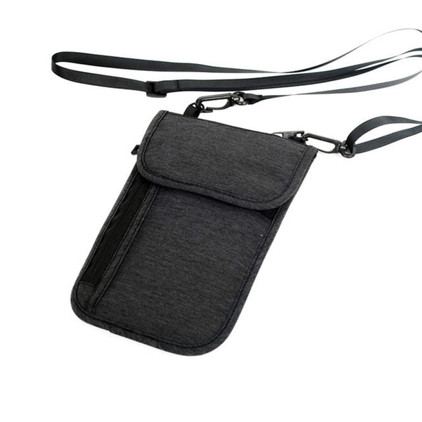 KLSYANYO Anti-RFID Neck Travel Wallet (2 Colors) - I Have Wanderlust