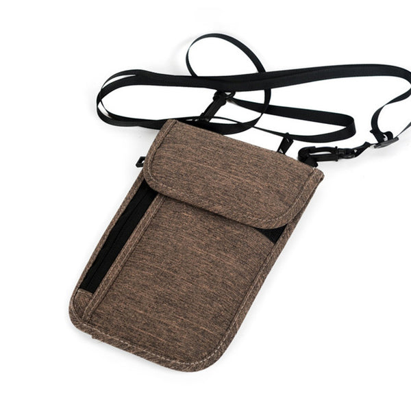 Anti-RFID Neck Travel Wallet (2 Colors) - I Have Wanderlust
