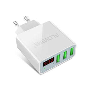 15W 3-USB EU Smart Fast Charger Converter with +LED Display (2 Colors) - I Have Wanderlust