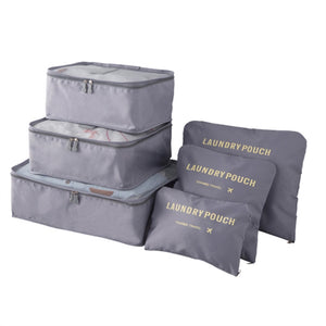 6pc Travel Packing Cubes System with Laundry Bag (8 Colors) - I Have Wanderlust