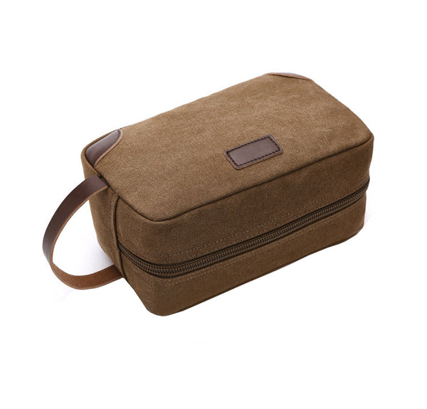 The Canvas & Leather Toiletry Organizer (7 Colors) - I Have Wanderlust