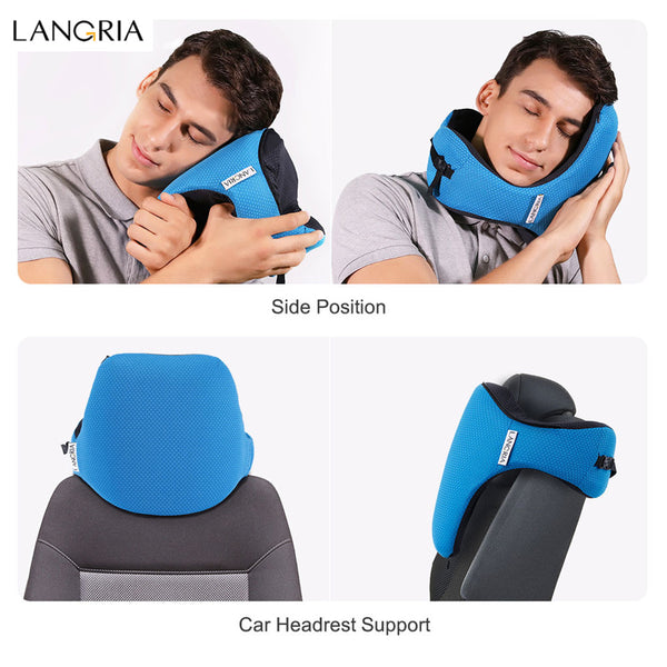 The LANGRIA 6-in-1 Astronaut Memory Foam Travel Pillow with Detachable Sleeping Hood - I Have Wanderlust