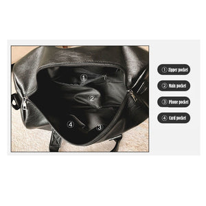 Waterproof Leather Travel Duffel Bag with Shoe Pocket (2 Sizes) - I Have Wanderlust