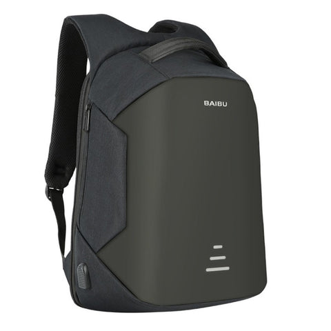 Waterproof Anti-theft Shell Computer Backpack with USB Charger - I Have Wanderlust