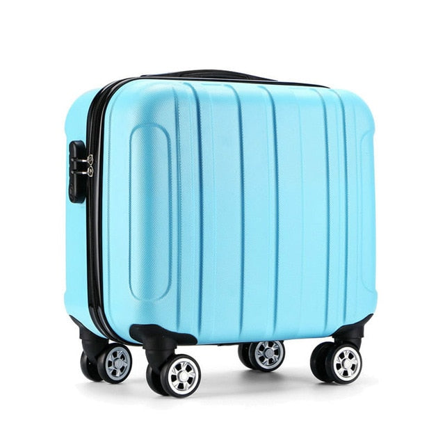 "16"" Small Boy Trolley Carry-on Suitcase - I Have Wanderlust"