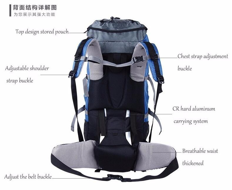 CREEPER Large Capacity Waterproof Backpacker's 60L Rucksack - I Have Wanderlust
