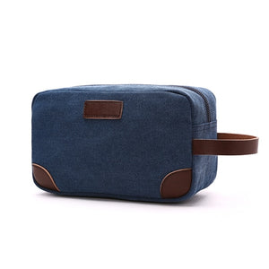 Canvas & Leather Toiletry Organizer (7 Colors) - I Have Wanderlust