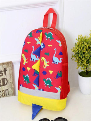 Kids Dinosaur Backpack with Multicolored Spikes and Tail (4 Colors) - I Have Wanderlust