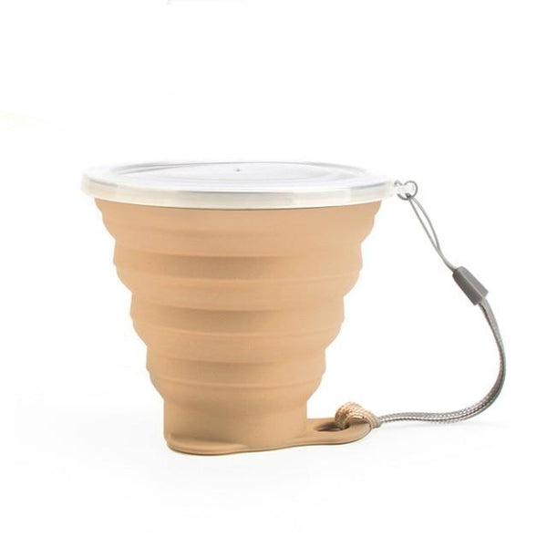 The Super-Slim Stainless Steel & Silicone Collapsing Cup With Lanyard & Dust Lid (12 Colors) - I Have Wanderlust