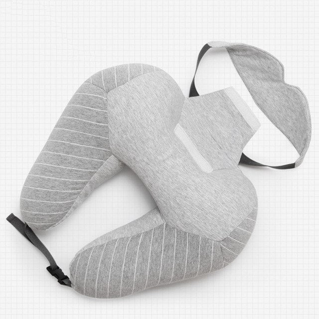 The LOVRTRAVEL Deluxe Travel Pillow with detachable Sleep Mask (2 Colors) - I Have Wanderlust