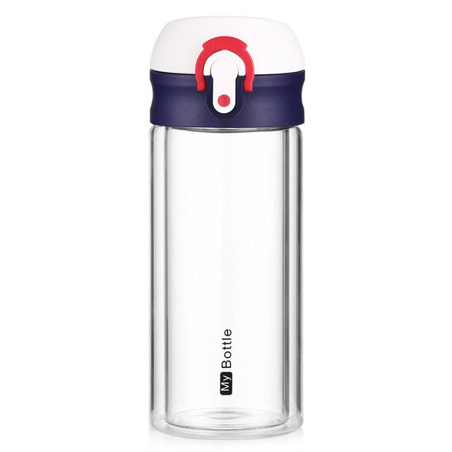 250ML My Bottle Double Layer Glass Water Bottle (4 Colors) - I Have Wanderlust