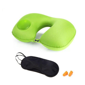 LOVRTRAVEL 3 Pc. Self-Inflating Travel Pillow Set with Eye-mask & Ear Plugs (3 Colors) - I Have Wanderlust