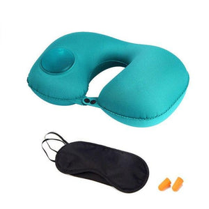 The LOVRTRAVEL 3 Pc. Self-Inflating Travel Pillow Set with Eye-mask & Ear Plugs (3 Colors) - I Have Wanderlust