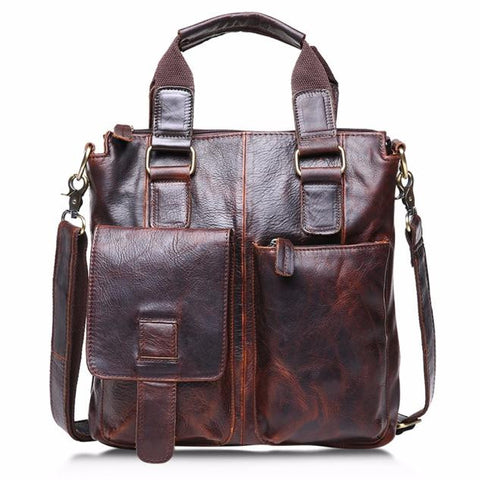 Vintage Buffalo Leather Messenger Satchel (2 Colors) - I Have Wanderlust