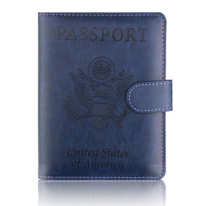 Anti-RFID Faux Leather Passport Holder With Magnet Strap (7 Colors) - I Have Wanderlust