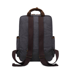 Canvas & Leather Uber Functional Laptop Rucksack (3 Colors) - I Have Wanderlust