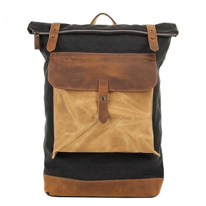 The DREAM SANTORINI Vintage Canvas Leather Rucksack (4 Colors) - I Have Wanderlust