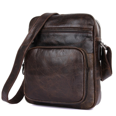 The DREAM SANTORINI Genuine Leather Crossbody Messenger Bag - I Have Wanderlust