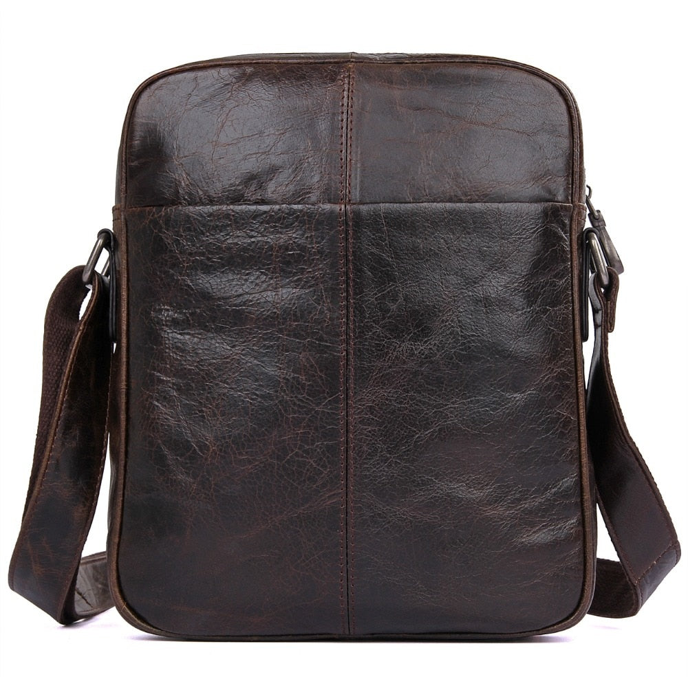 DREAM SANTORINI Genuine Leather Crossbody Messenger Bag - I Have Wanderlust