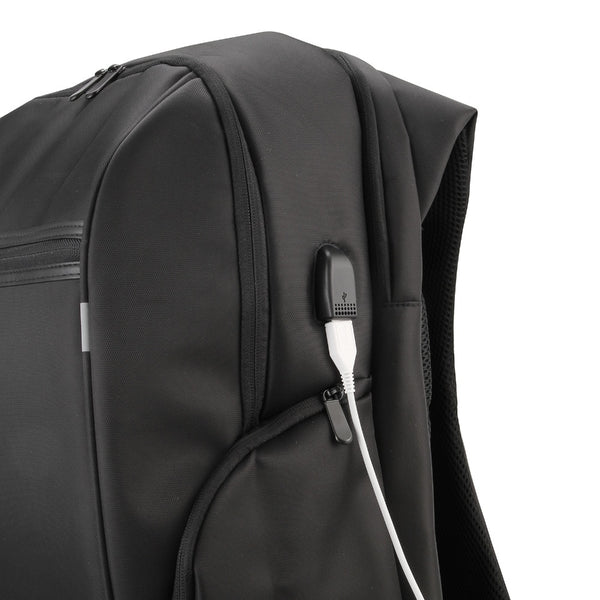 "The 17"" Reflective Waterproof Laptop Backpack with USB Charging Port - I Have Wanderlust"