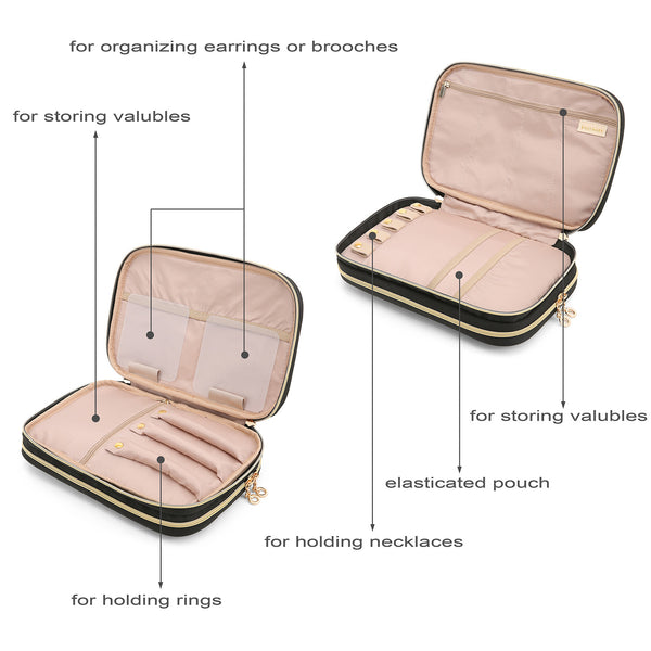 The BAGSMART Travel Jewelry Bag (3 Colors) - I Have Wanderlust