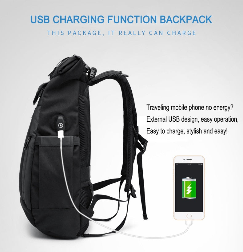 OZUKO Waterproof Multifunction USB Charging Backpack - I Have Wanderlust