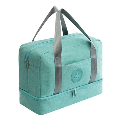 Cationic Waterproof Double Layer Weekender with Bottom Cubby (5 Colors) - I Have Wanderlust