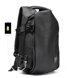 Vintage Genuine Leather Large Capacity Waterproof Bagpack with USB Charger - I Have Wanderlust